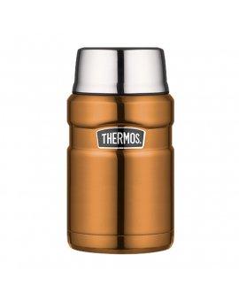Thermos Termoska na jídlo se šálkem - měděná