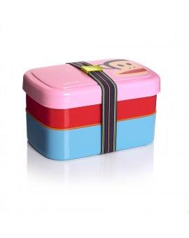 Dvoupatrový svačinový box Paul Frank - růžový