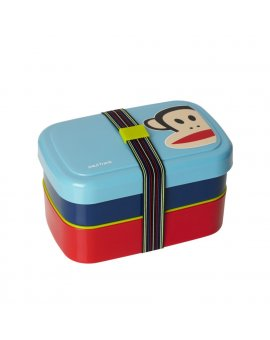 Dvoupatrový svačinový box Paul Frank - modrý