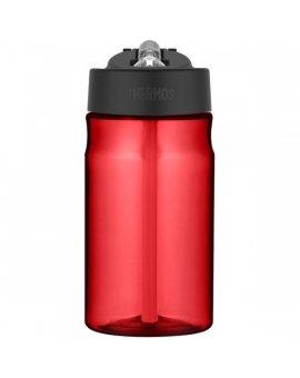 Dětská hydratační láhev s brčkem o objemu 350 ml - červená