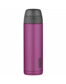 Termoska na nápoje s brčkem - purpurová