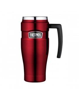 Vodotěsný termohrnek s madlem - červená