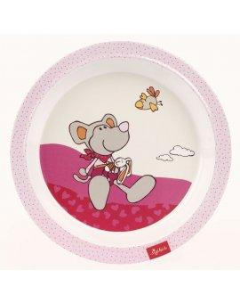 sigikid MELAMIN baby TALÍŘEK myška LEONORA se silikonem - (21,5 cm)