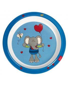 sigikid MELAMIN baby TALÍŘEK slon LoLo LOMBARDO se silikonem (21,5 cm)