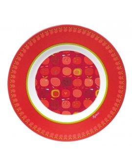 sigikid MELAMIN lifestyle jablíčko APFELHERZ talíř (21,5 cm)
