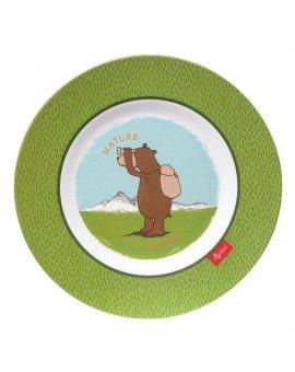 sigikid MELAMIN lifestyle medvěd FOREST GRIZZLY talíř (21,5 cm)