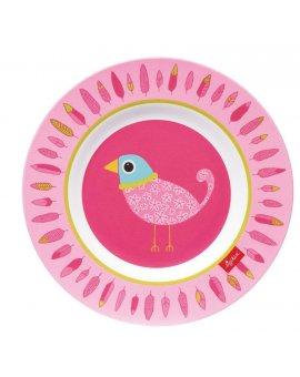 sigikid MELAMIN lifestyle ptáček FINKY PINKY talíř (21,5 cm)