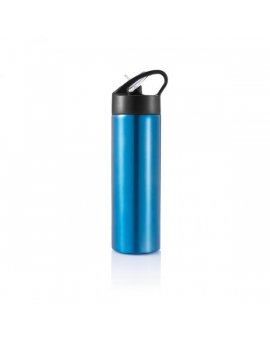 Sport, lahev s brčkem, 500ml, modrá