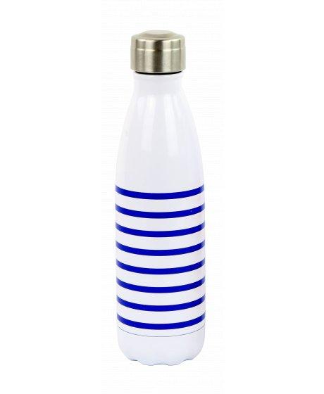 YD1651 termoláhev 500 ml, pruhovaná modrá