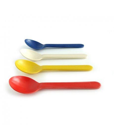 ekobo bambino quatro small spoon set multicolour sada detskych lzicek zelenadomacnost