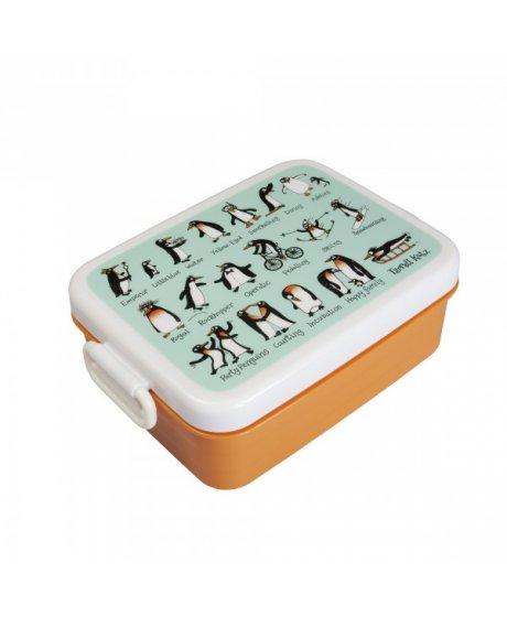 Svačinový box - střední - Tučňáci