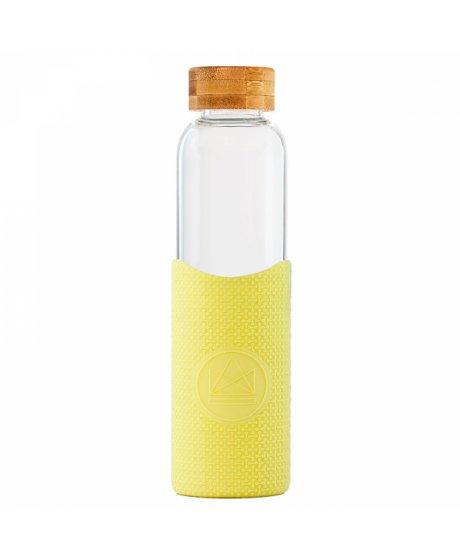 sklenena lahev s rukavem 550 ml neon kactus zluta