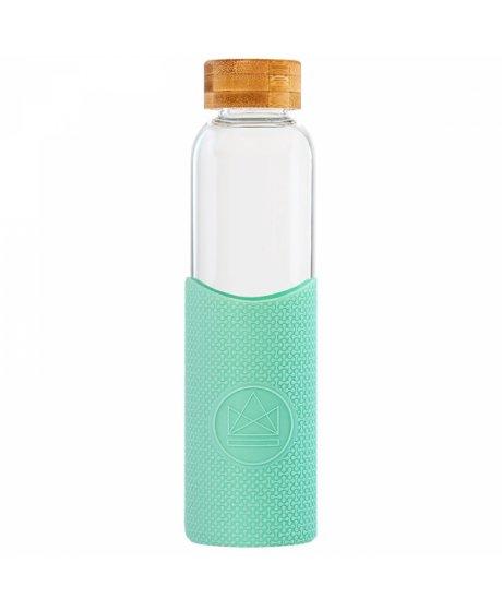 sklenena lahev s rukavem 550 ml neon kactus zelena