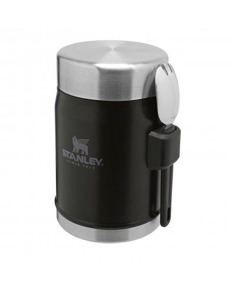 STANLEY termoska jídelní 400ml se lžící/vidličkou černá mat