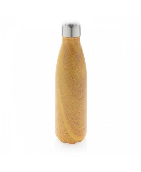 nerezova lahev na vodu dekor svetleho dreva (3)