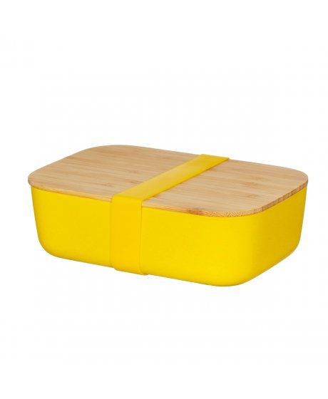 ZOE081 A Yellow Bamboo Lunch Box