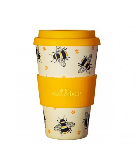 ZOE078 A Busy Bees Bamboo Coffee Cup (2)