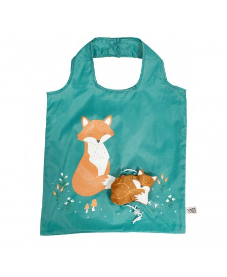 VAL060 A Woodland Fox Foldable Shopping Bag (1)
