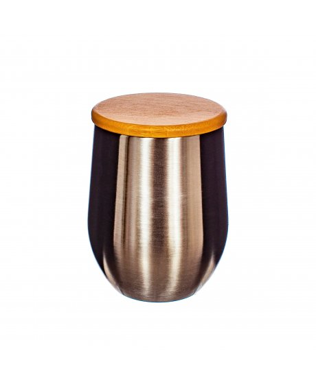 ZIP060 A Stainless Steel Cup With Bamboo Lid