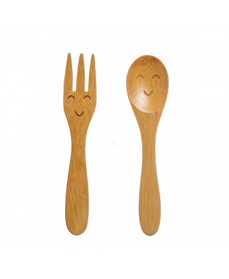 JQY018 A Kids Bamboo Cutlery