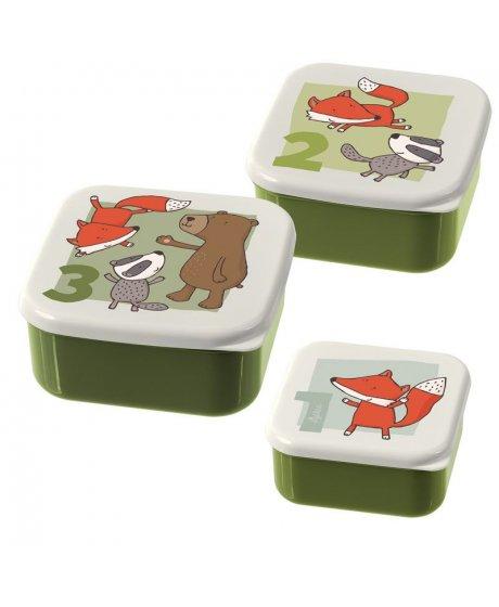 Forest Set 3x svačinový boxík (12x12x6)