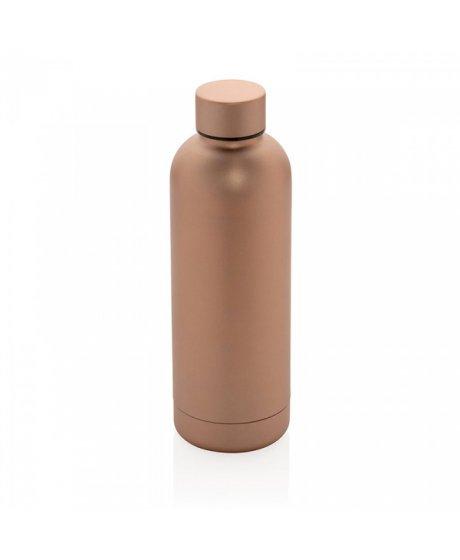 nerezova lahev na vodu s dvojitou stenou 500 ml xd design bronzova