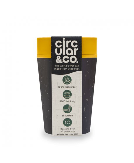 circular cup rcup black and mustard 227 ml zelenadomacnost