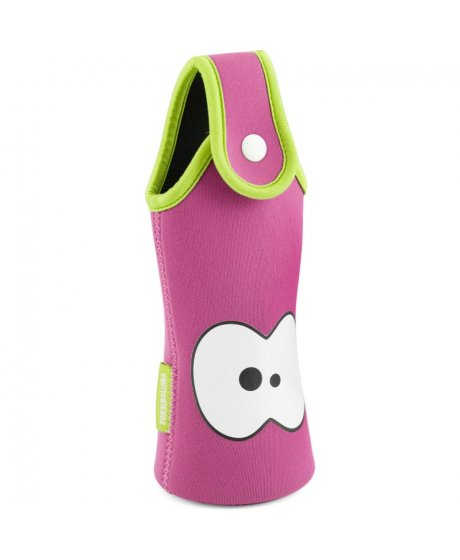 Fruit Friends Bottle bag růžová neoprén - limetka