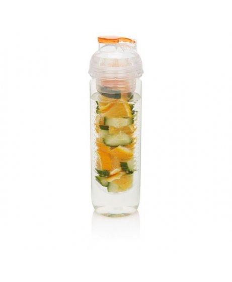 láhev s košíkem na ovoce, oranžová