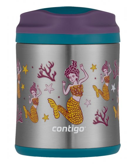 2136764 FOOD JAR 10OZ EGGPLANT MERMAID FRONT