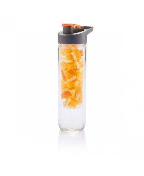 Loooqs, 800 ml láhev s košíkem na ovoce, oranžová