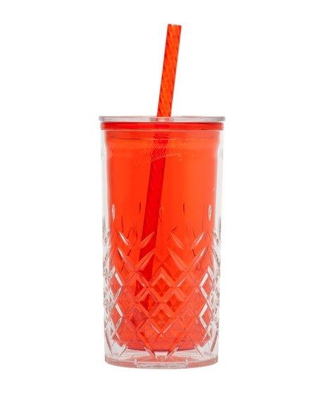 Plastový pohár červený