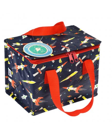 29237 space rockets lunch bag with code tag