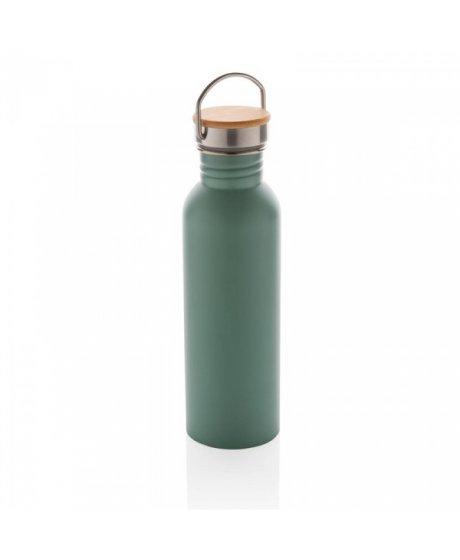 nerezova lahev s bambusovym vickem 700 ml xd design zelena