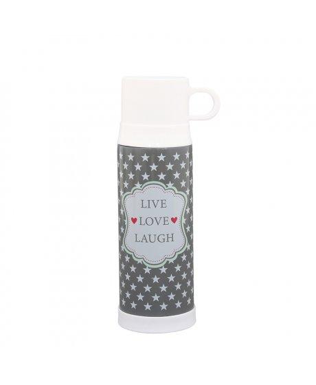 Retro termoska - Live, Love, Laugh