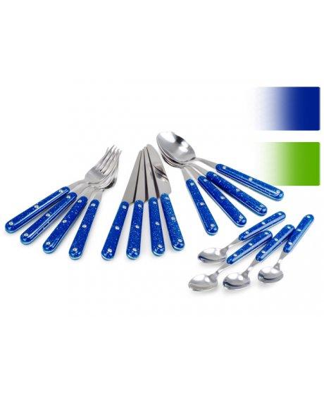 Pioneer set příborů modrý