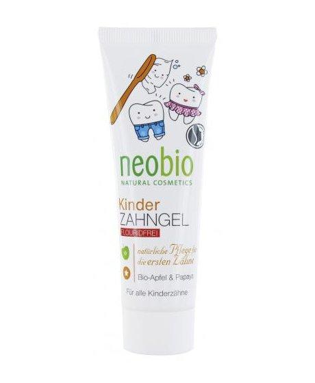 Neobio Dětský zubní gel Bio-Jablko & Papaya 50 ml