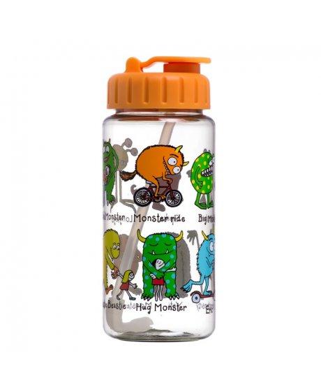 Dětská lahev s brčkem Příšerky - tritan