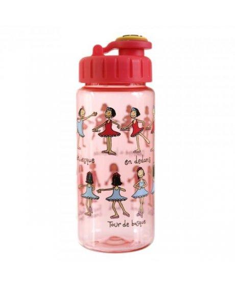 Dětská láhev s brčkem Baletky - tritan