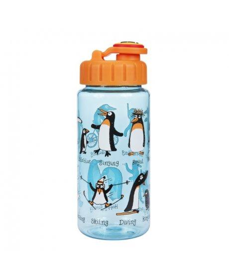 Dětská láhev s brčkem Tučňáci - tritan