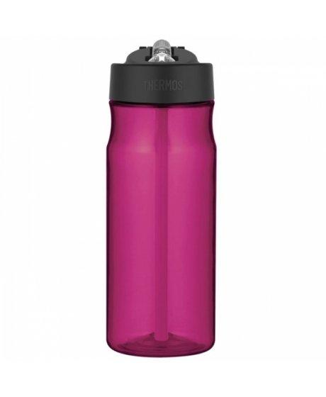 Hydratační láhev s brčkem o objemu 530 ml - purpurová