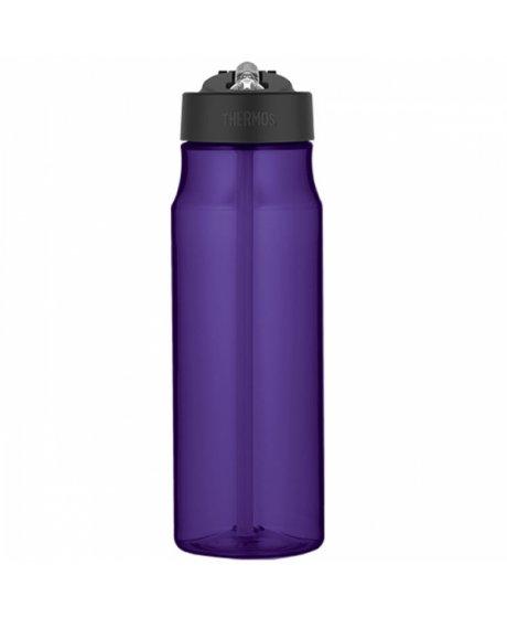 Hydratační láhev s brčkem o objemu 770 ml - fialová