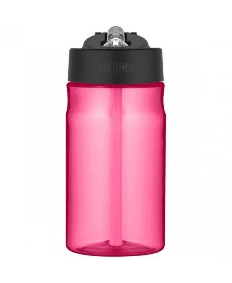 Dětská hydratační láhev s brčkem o objemu 350 ml - růžová