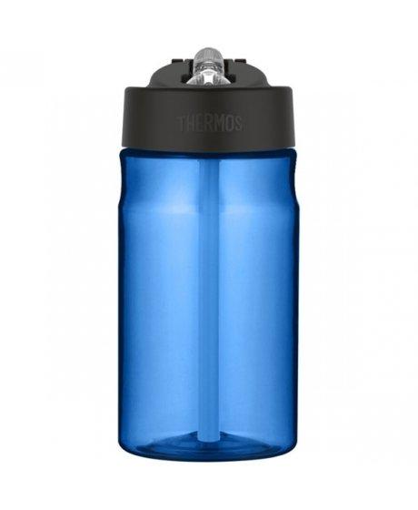 Dětská hydratační láhev s brčkem o objemu 350 ml - modrá