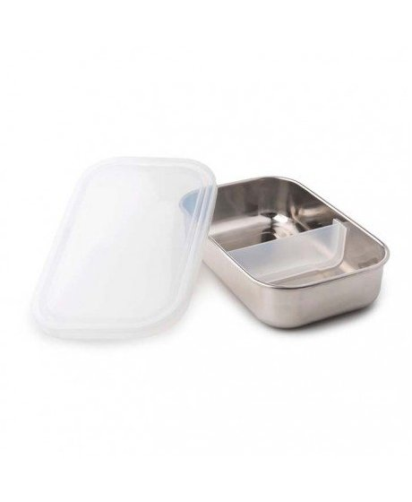 rectangle container with divider clear 3