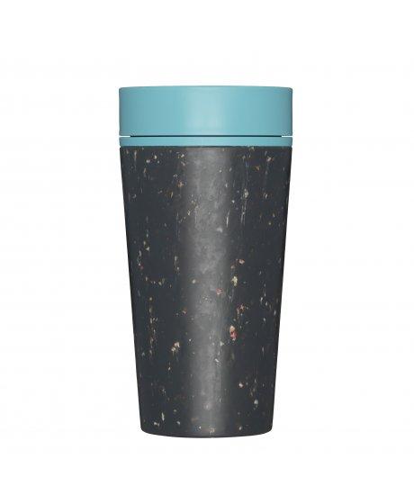 rcup opakovane pouzitelny kelimek na kavu z recyklovanych kelimku modra black and teal zelenadomacnost