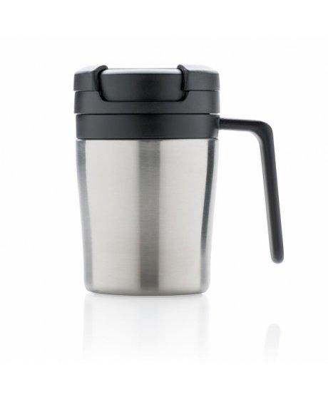 termohrnek coffee to go do kavovaru s ouskem 160 ml xd design stribrny