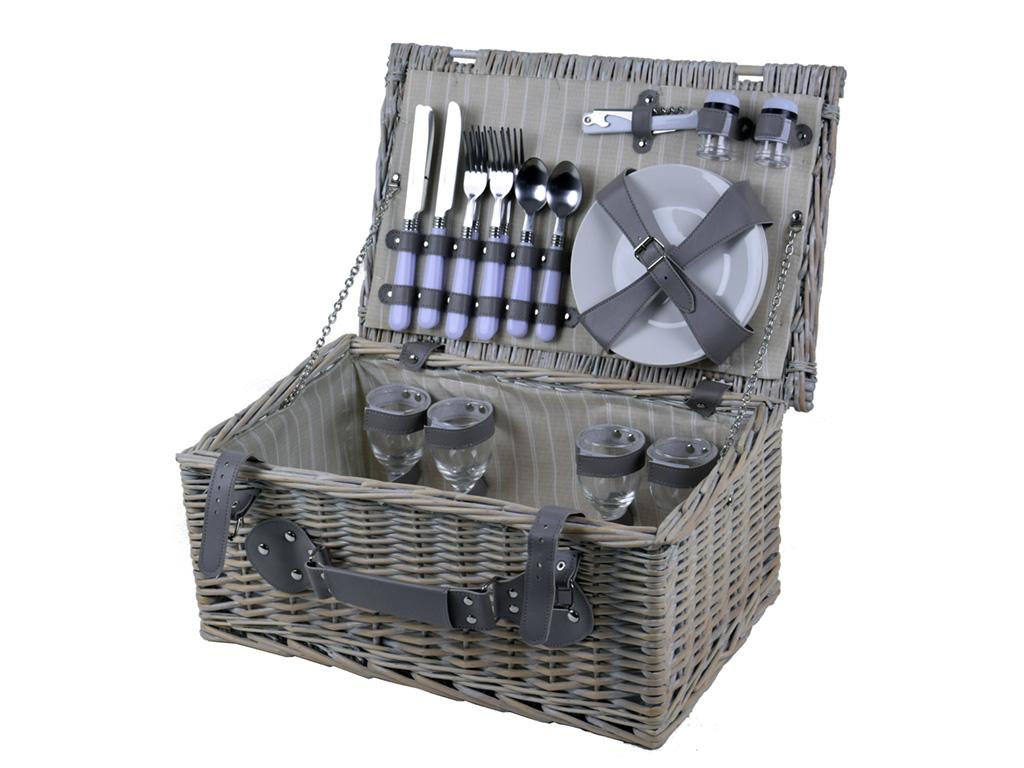 piknikový koš - kufr vybavený pro 4 osoby