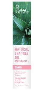 Desert Essence Pasta na zuby Ginger – tea tree olej a zázvor 130 ml