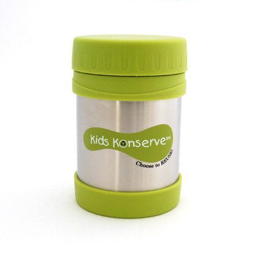 Kids Konserve - U Konserve Termoska na jídlo - nerezová - Green 350 ml